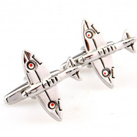 airplane steel - TZG00030 Unique airplane model Cuff Links Enamel Stainless Steel Fashion Business Weddings Cufflinks top grade gift