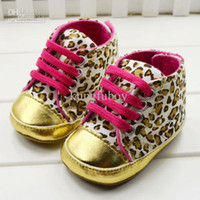 Cheap Wholesale - Baby girls shoes Leopard Toddler shoes soft sole baby Walkers Wear Comfortable kids Casual Shoes