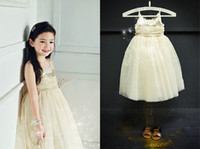 korea fashion - Hot sales New2014 Girls Dress Fashion Summer Sequins Republic Korea Brand Gauze Sleeveless Camisole Princess Dress