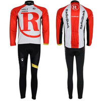 Wholesale Trek Brand New Cycling Jersey Set Long Sleeve Red White Shirt and Pants Comfortable Mens Bike Suits Cycling Clothing