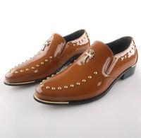 Wholesale NEW ARRIVAL Fashion rivet business Shoes men Leather shoes wedding shoes bridegroom Shoes grooms men shoes