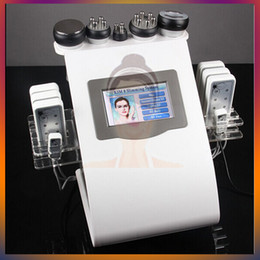 Wholesale 6 Cellulite Removal Tripolar RF Diode Laser LLLT Lipo Laser Cavitation Machine