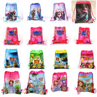 Wholesale 1404L z peppa pig bags frozen backpacks peppa pig sofia Despicable Me handbags children school bags kids cartoon shopping bags