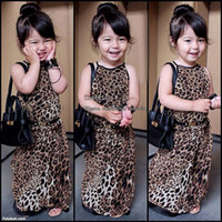 long summer dresses - Kids Clothes Leopard Dress Girls Long Dresses Child Clothing Kids Summer Dress Fashion Dresses Princess Dress Children Dresses Girl Dress