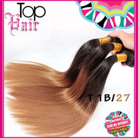 Straight cheap brazilian hair - Silky Straight Brazilian Hair Weave Ombre Hair Wefts T1B Color Bundles Cheap Straight Human Extensions inch Virgin Ombre Hair