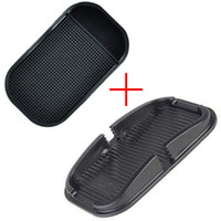 Wholesale 2pcs set in Multi functional car Anti Slip pad Rubber Mobile Phone Shelf Antislip Mat For GPS MP3 Cell Phone Holder