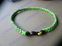 Wholesale GT Rope hockey Germanium Titanium Tornado Sports Braid Necklace rope tornado necklace