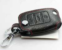 Wholesale Skoda Octavia Fabia Superb Remote Control Genuine leather Car Keychain key case auto accessories