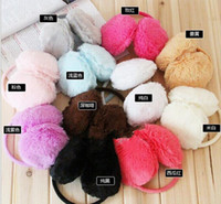 Wholesale Cute Pure Color Earmuffs Earwarmers Ear Muffs Earlap Warm Headband