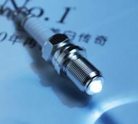 led light parts - Creative Hot Sale LED Light Spark Plug Auto Parts Keychain Key Chain Ring Key Fob Keyring
