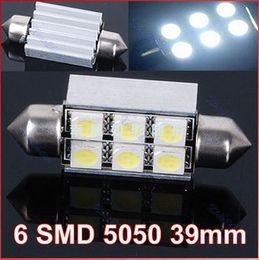 Wholesale 2pcs white V mm Canbus Error Free Chip SMD LM Car Auto Light Bulbs LED Festoon Light Dome Light free shippinng