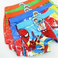 Wholesale baby boy cotton underwear kids cartoon panties spiderman boys boxer briefs children fashion underpants