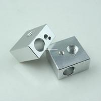 Cheap 3D Printers Reprap Makerbot heated aluminum block 20 * 20 * 10 mm sandblasting oxidation Specials