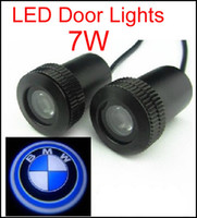 Wholesale 2PCS HOT SALE th Car Door Light for bmw W Car Door Welcome Light Laser Lights with car logo Shadow light