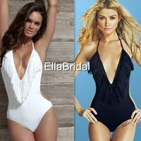 beaches set designs - Hottest New Design Sexy Swimwear Beachwear Women Bikini Set With Tassels Lady s Swimsuit Female Summer Dress Beach Gown