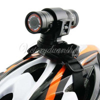 Wholesale 2014 Full HD P DV Mini Waterproof Sport Bike Camera Helmet Bracket Car Holder DVR Digital Video P