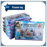 Cheap Frozen Anna Elsa Hans Kristoff Sven Olaf Princess PVC Action Figures Toys Classic Toys dolls Cartoon Kid Gift toy 6piece set(1702002)