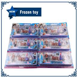 Wholesale 6pcs set Frozen Anna Elsa Hans Kristoff Sven Olaf PVC Action Figures Toys Classic Toys
