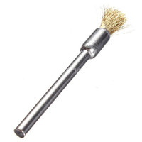 Wholesale New Arrival mm Brass Wire Wheel Brush Cups Shape Shank For Dremel Drill Rust Weld Machine Tool