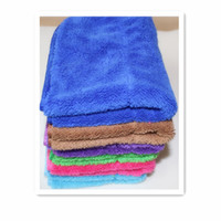 Cheap Free Shipping 3 PCS 6 COLORS 40*30cm Microfiber Cleaning cloth households wipes Dish Car care kitchen towel rag