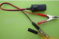 Wholesale car free shinppingCheap cigarette lighter plug female extension cable battery clip alligator clip battery switch A female ciga