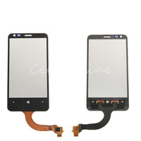 Wholesale Front Black Outer LCD Lens Display Touch Screen Digitizer With Frame Glass Panel Replacement Parts For Nokia Lumia order lt no