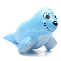 Cheap Free Shipping PVC Animal Inflatable Air-Filled Swimming Pool Shower Sea Lion Toys For Baby Children Kids Birthday Gift