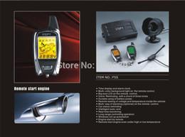Descuento sistema de alarma a distancia un coche Sistema de alarma de Alemania SPY coches de 2 vías Sistema de Protección coche LCD 2 de arranque del motor a distancia sin colorbox y F5S sirena barco JJJ gratuito