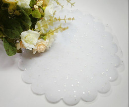 Wholesale 100pcs Pure White Circle Tulle Wedding Jewelry Candy holder Organza Diameter cm