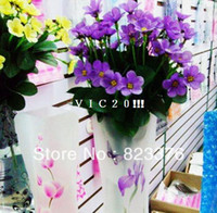 Wholesale DHL flower vases Plastic PVC Foldable Flower Vase