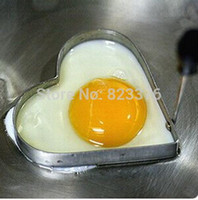 Wholesale DHL Good quality Cute Kitchen Heart Love Shaped Cook Fry Egg Mold Pancake Stainless Steel Mould