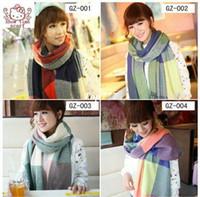 Wholesale 2014 Fashion Style Designer Twill Wool Woman Plaid Scarf Shawl Infinity Warm Scarf CM