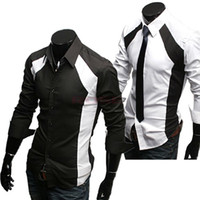 Wholesale New Men s Casual Luxury Stylish Slim Long Sleeve Breathable Shirts Sizes M L XL White Cotton Clothes