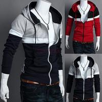 Wholesale Men s Hoodies Stylish Designed Slim Fit Long Sleeve Coat Jacket Sweatshirt Colors