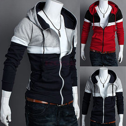 Wholesale Men s Hoodies Stylish Designed Slim Fit Long Sleeve Coat Jacket Sweatshirt Colors