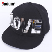Wholesale baseball caps Acrylic letters hat custom personalized letters LOVE hip hop hat custom baseball cap flat along Snapback hats