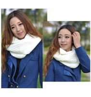 Wholesale 5pcs Acrylic Fashion Winter Keep Warm Knitted Scarves Ring Loop Infinity Neck Wearing Women Apparel Accessories Decoration