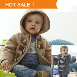 Wholesale 2014 Winter Fashion Horn Button Child Thickening Outerwear Overcoat Male Child Outerwear Boy Jacket Retail