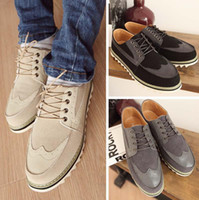 Wholesale Spring men s shoes sneakers breathable Korean casual shoes men s carved boats shoes flats size39 XMB063