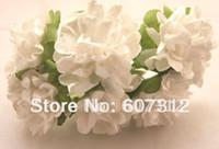 achat en gros de fleur scrapbooking gros-Vente en gros-144 / tige beaucoup Bouquet de fleur en papier mûrier blanc/fils / Scrapbooking fleur livraison gratuite