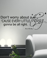 Wholesale BOB MARLEY Wall Decal Sticker Art Vinyl Quote Don t worry about a thing Every little thing alright m2042