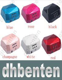 Wholesale LAI140 Color W W UV LED Gel Nail Lamp Gel Curing Tube Light Nail Art Polish Dryer Machine V V