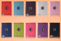 360 Degree rotating leather case Smart cover for ipad 2 3 4 ...
