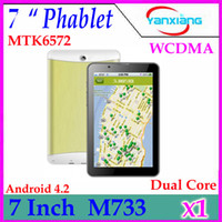 Wholesale DHL Inch G Dual Core Dual Sim Android Phablet unlocked Phone mtk6572 Bluetooth Tablet Pc Calling Wifi Dual Camera WCDMA YX MID