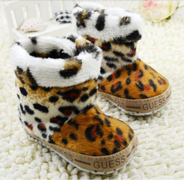 Wholesale Hot selling Fashion First Walker Shoes Children Shoes leopard snow boot Kids Shoes Year Boys Girls Sneaker pairs WD372