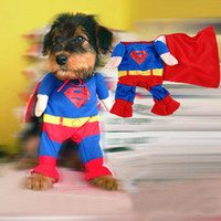 Fall/Winter dog diapers - 2014 Hot sale Fashion Superman Design Pet Costumes Dog Clothes Clothing Puppy Cat Apparel Hoodie Sweater