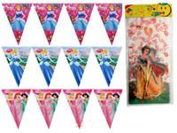Cheap Free shipping,birthday party decoration,princess birthday party kit 1 set=1pcs banner +10pcs gift bag