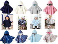 Wholesale New Arrival Baby Girls Double side Poncho Baby Boys Dot Coat Children Hooded Poncho M1235