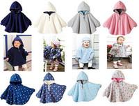 baby boy poncho - New Arrival Baby Girls Double side Poncho Baby Boys Dot Coat Children Hooded Poncho M1235