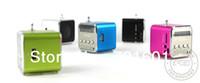 Wholesale 50pcs TD V26 Digital Mini Speaker for MP3 MP4 PC Support TF SD Card Radio USB SP003 J J